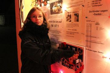 Corinna bringt die Spendenbox auf über 1.000€