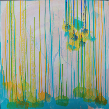 Nr. 2013-HO-004-3: 60 x 60 cm Acryl, Wachsstift, auf Leinwand, Trilogie-2