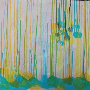 Nr. 2013-HO-004-3: 60 x 60 cm Acryl, Wachsstift, auf Leinwand, Trilogie-3