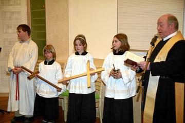 Pater Markus Krammer bei der Weihe