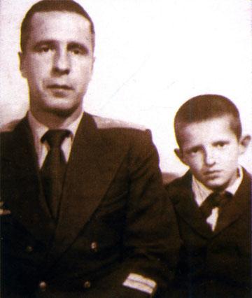 Браташ с сыном Виктором