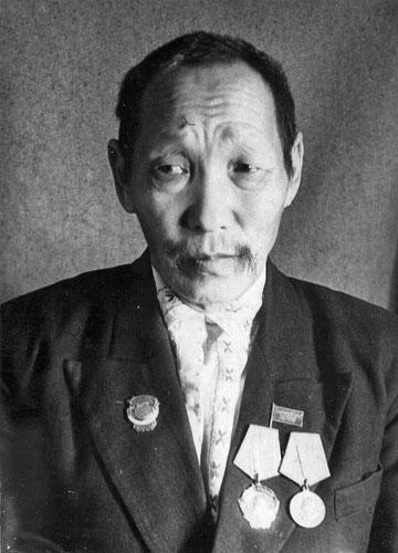 Лауреат Сталинской премии агротехник М.Г. Егоров. Якутия