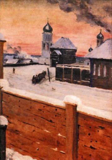 Собор и башня. Якутск, 1907 г. Худ. А. Аркуша