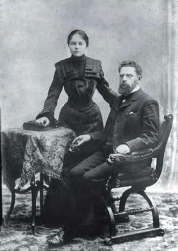 Иохельсон с женой Диной Бродской