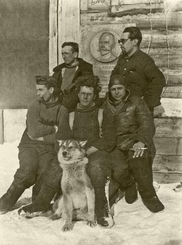 Большой Ляховский остров. Экипаж Черевичного. 1936 г.