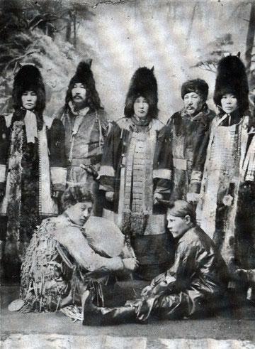 Первая постановка драмы Манчаары 1906 г