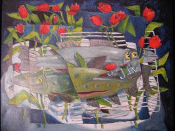 Öl, Lw. 80 x 100 cm. 2001.