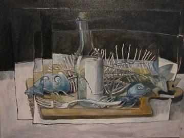 Öl, Lw. 33 x 48 cm. 1988.