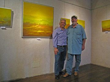 avec le peintre éric lambertin - 2012