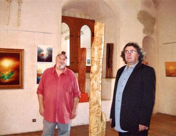 avec le sculpteur ugo ratti- 2010