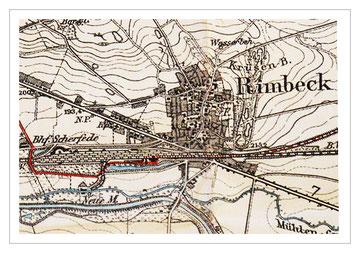 Karte von Rimbeck um 1930