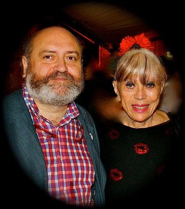 Con la actriz francesa Linda Bastide.