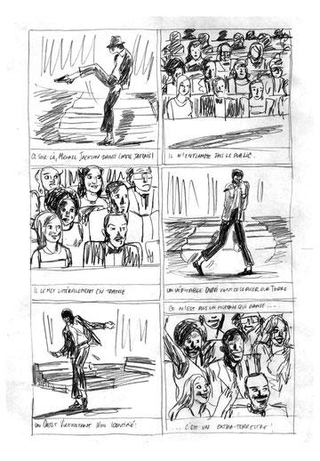 "Sarah Williamson : Crayonné page 3 ""Un extraterrestre sur Terre"""