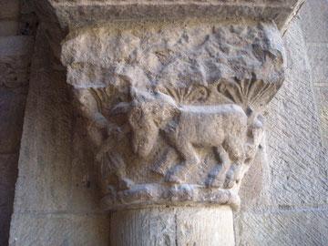 Capitel con Unicornio,Colegiata de San Isidoro de León
