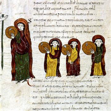 Biblia visigótico-mozárabe llamado Codex Biblicus Legionensis (960),destaca por la riqueza de colores, expresividad y representación de la vida social cristiana del SX. Considerado Códice Bíblico por excelencia de liturgia mozárabe. Scriptorium de Leon