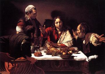 Caravaggio,Discípulos de Emaús,1596-1602.National Gallery,Londres