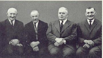 von links nach rechts: Matthias Müller, Hubert Grün, Johann Guthausen, Johann Schmitz