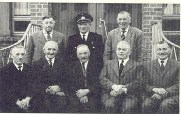 von links nach rechts: Peter Göbel, Theodor Wawer, Peter Zimmers, Peter Lenz, Matthias Müller, Hubert Grün Johann Guthausen, Johann Schmitz