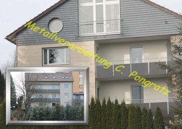 Geländer Stahl verzinkt mit Blechfüllung - der ideale Sichtschutz