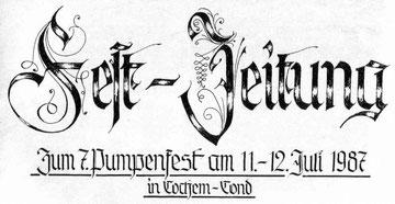 Pumpenfest-Zeitung, Aufsätze zur Conder Geschichte, Ausgabe 1 (19) (1987-2005)