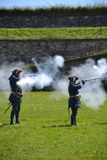 So wurde im 18. Jahrhundert geschossen :-)