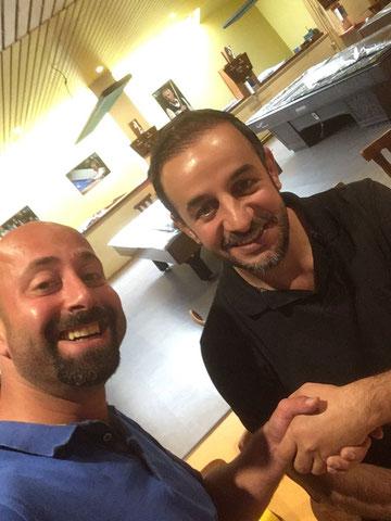 Behzat (l) und Kenan im Spiel um Platz 3