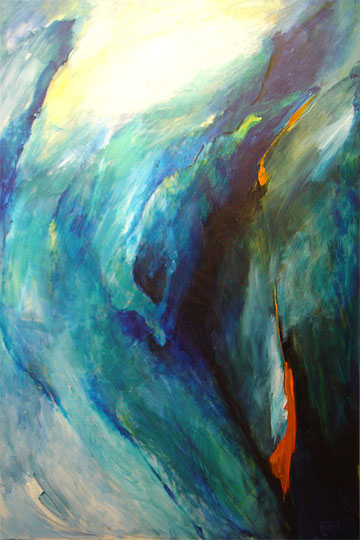 ohne Titel, Acryl auf Leinwand ,120x80 cm