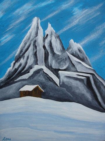 Schneeberg, 2006 (Acryl auf Papier, 36x48)