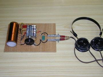 Radio Galena autoconstruida.