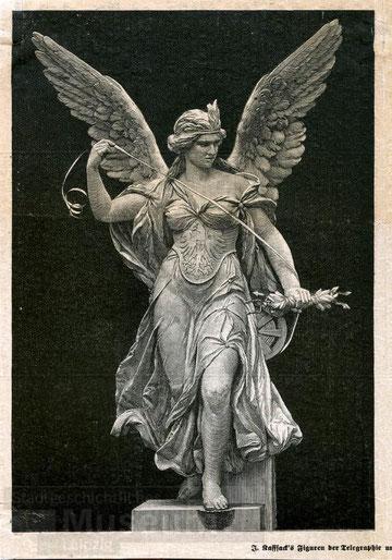 Kaffsacks, escultura alegórica del Telégrafo.