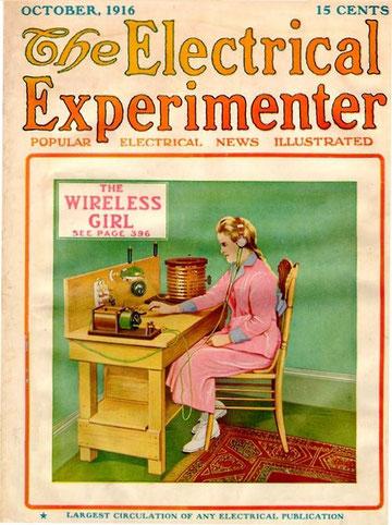 Portada de revista sobre radio dedicada a las mujeres de la radio.