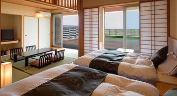太平洋景觀、日西合一式附床客房