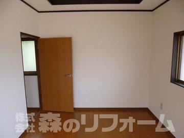 柏市まるごとリフォーム 2階洋室壁と床のリフォーム クロス貼替 フローリング張