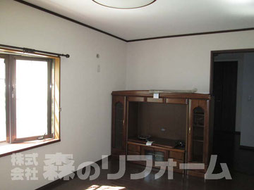 松戸市まるごと戸建リフォーム リビングリフォーム後 リビングを少し小さくして、ご高齢者のお部屋を作りました