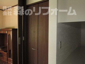 松戸市まるごとリフォーム 階段下をリフォームし収納設置 使いやすい収納になりました