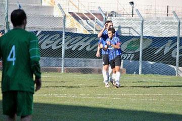 66°: Iannolo dopo il gol del 3-0