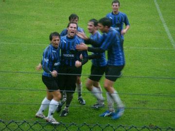 14': nerazzurri in festa dopo il gol del vantaggio