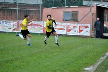 8': Andorno esulta dopo il gol del vantaggio