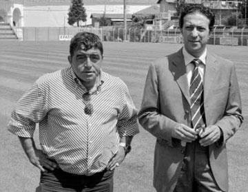Il mister Cavallaro ed il Presidente Piro