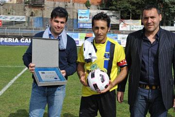 Iannolo premiato per i 100 gol in nerazzurro