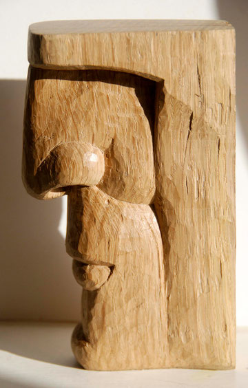 Relief Head II 2010 (Oak) (18x10x4)