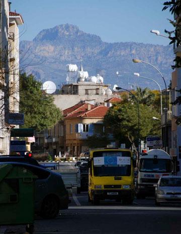 Looking towards the Kyrenian Hills from Archbishop Makarios III Av.