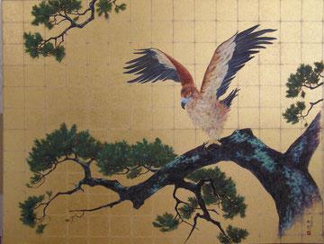 Adler und Kiefer  150 x 220 cm,  Privatbesitz