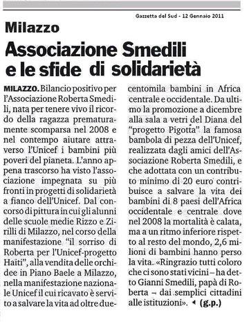 Gazzetta del Sud - 12 Gennaio 2011