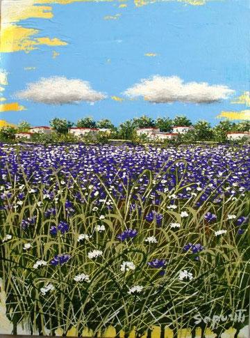 Saporiti Marco - Paesaggio in viola - acrilico tela - 30 X 40