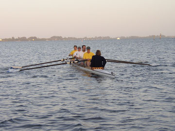 4+ rowing in the morning