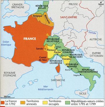 Carte des Républiques-soeurs
