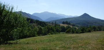 Vue sur la vallée de l'Aude