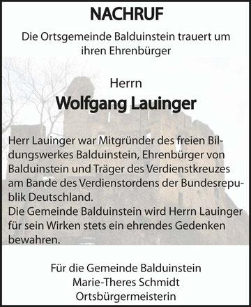 Balduinstein, den 20. Dezember 2017