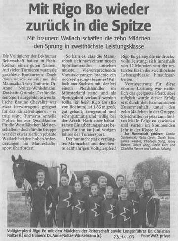 WAZ, Bochum am 23.11.2007